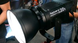 Newsshooter at NAB 2016 Aputure COB 120t LED hard light with Bowens S mount