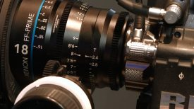Newsshooter at NAB 2016 Schneider show fast aperture full frame 18mm T2.4 cine prime