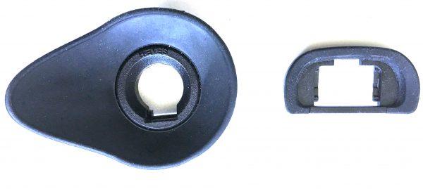 The Hoodeye next to the Sony original a7 II series eyepiece