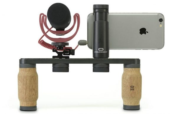 The Shouldered R1 Pro rig with Rode mic