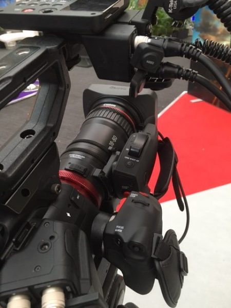 The 18-80 has its own Servo grip but it doesn't have all the controls that the C300 mkII handgrip does