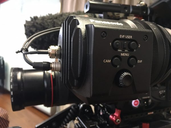The Varicam LT's viewfinder is tough, well integrated into the camera, and expensive.