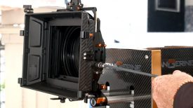 Newsshooter at Cinegear 2016 Bright Tangerine geared filter tray and improved mattebox flag