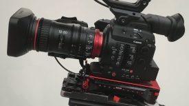 Pre production Canon CN E 18 80mm T4.4 L IS servo zoom sample video Canon Log 1