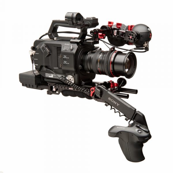The Sony FS7 equipped with Gripper battery