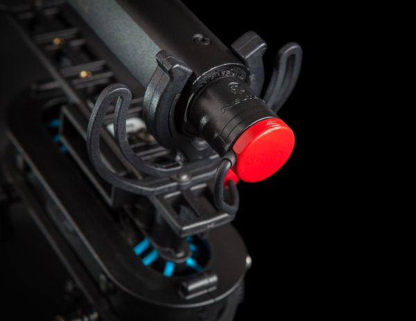 The redesigned XLR connection is very compact
