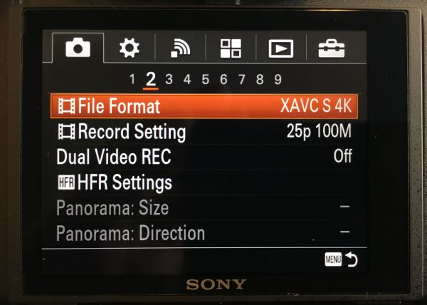 The RX10 III has the same XAVC S UHD recording as other prosumer Sonys.