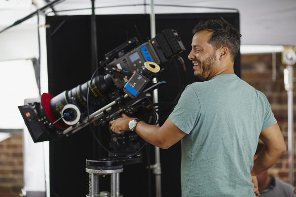 Olly is an experienced DP. Seen here shooting with the ARRI Amira.