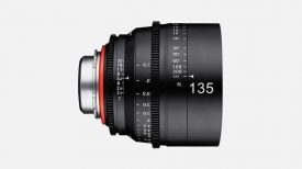 samyang product cine xeen lenses 135mm t2.2 camera lenses banner 03.L