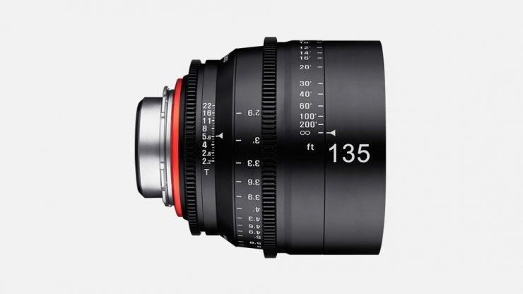 samyang product cine xeen lenses 135mm t2.2 camera lenses banner 03.L