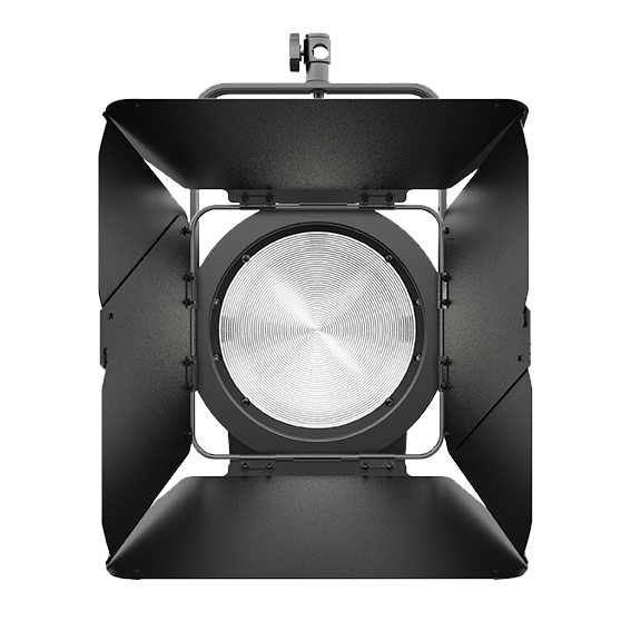 """The 7"""" fresnel lens comes as standard - the barn doors are part of an extended package."""