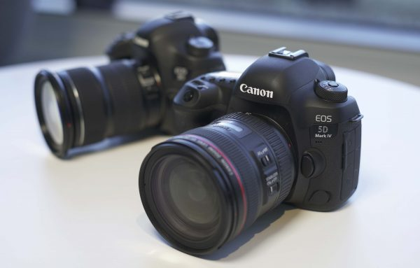The Canon 5D Mark IV (Right), next to the 5D Mark III