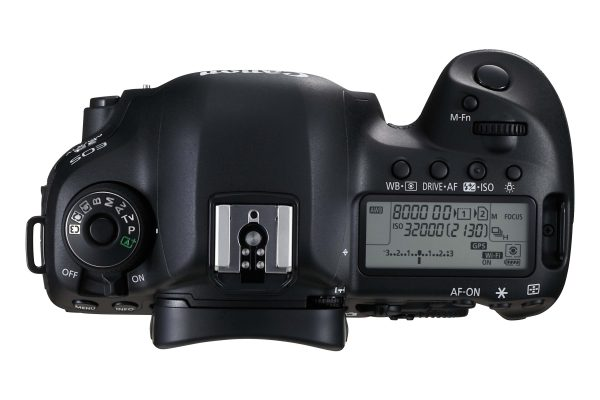Top view of the Canon 5D Mark IV