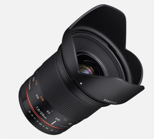 The photo version of the Samyang 20mm F1.8