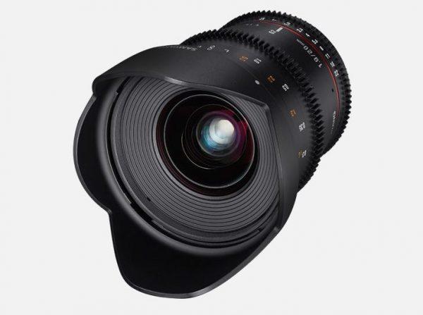 The Samyang 20mm T1.9 video lens