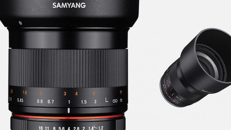 samyang product photo mf lenses 35mm f1.2 camera lenses banner 02.L