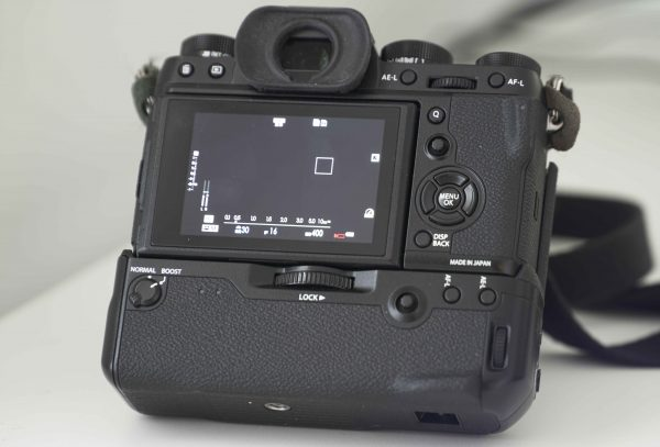 Rear view of the Fujifilm X-T2
