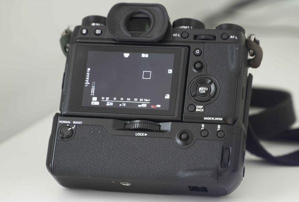 Rear view of the Fujifilm X-T2