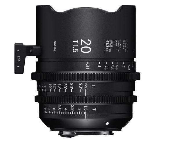 The 20mm T1.5 full frame cine prime