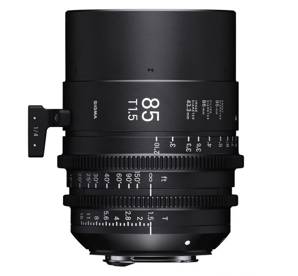 The 85mm T1.5 is the only lens in the range that does not currently have an ART lens equivalent