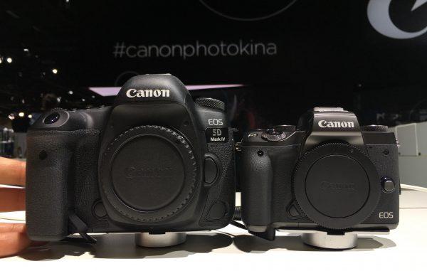Canon EOS M5 and Canon 5D Mark IV Photokina