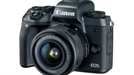 Canon EOS M5 with 15 45mm lens