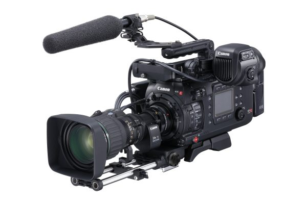 An C700 ENG setup with B4 broadcast lens and optical adapter