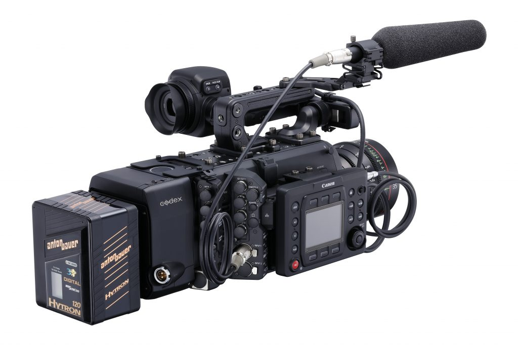 Canon C700 with RAW module and v-mount battery