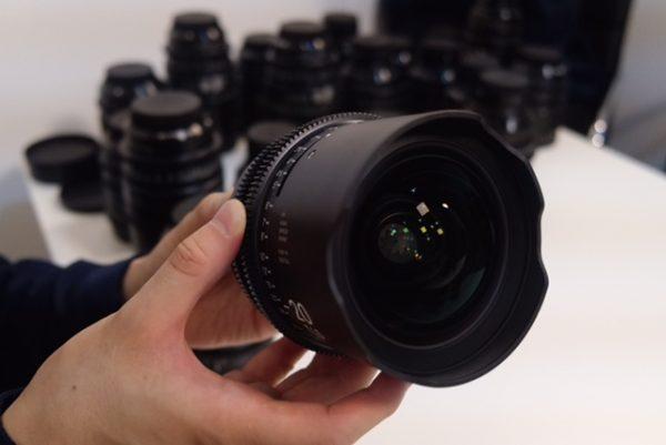 The 20mm Sigma cine lens has no filter thread