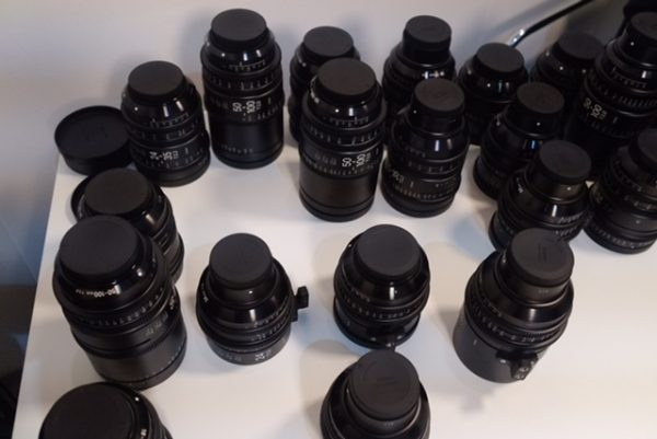 There were plenty of sample lenses on show