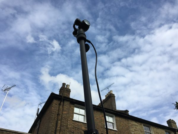 The Charters Pole with DJI OSMO attached.