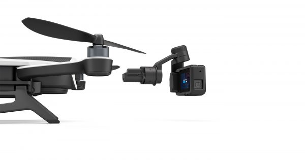 The Stabilizer features an integrated camera mount that clips straight onto the drone via a mounting ring.