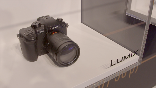 Panasonic GH5 behind glass