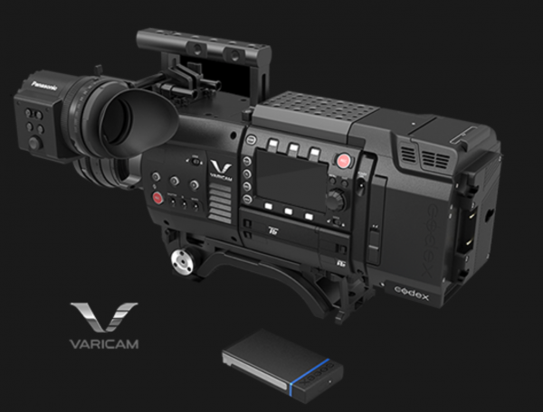The current Varicam 35 with recorder and V-RAW recorder.