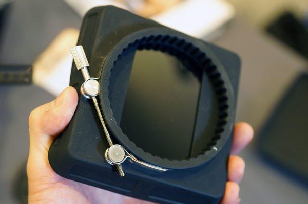 Wooden Camera Zip Box in Hand