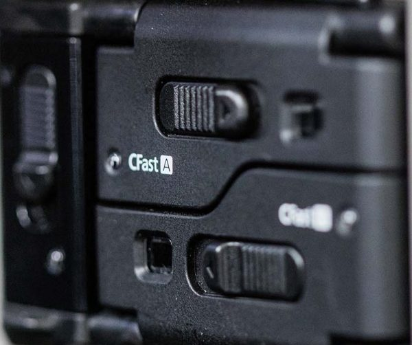 The CFast 2.0 card slots look like they came straight from the C300 mkII