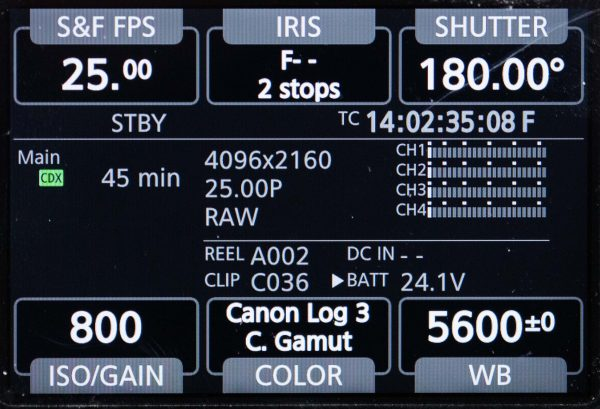 The control panel on the side looks similar to Arri and Sony ones.