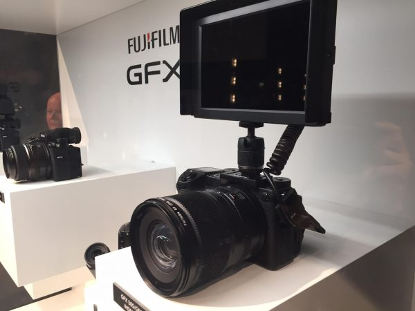 The Fujifilm GFX 50S with HDMI monitor