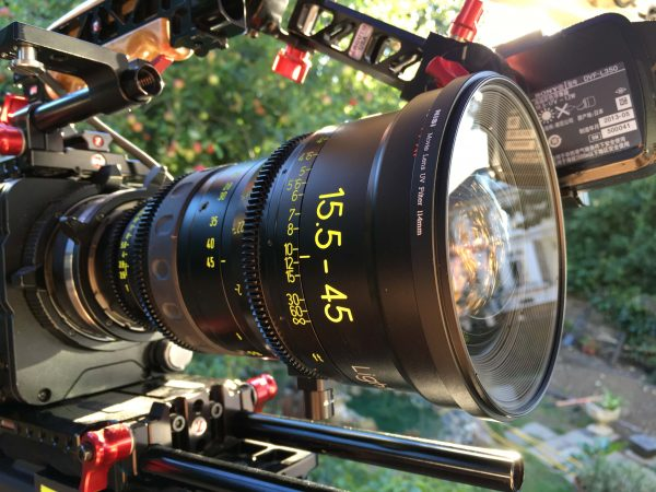 The NiSi 114mm UV protection filter on a Zeiss 15.5-45 LWZ cine zoom