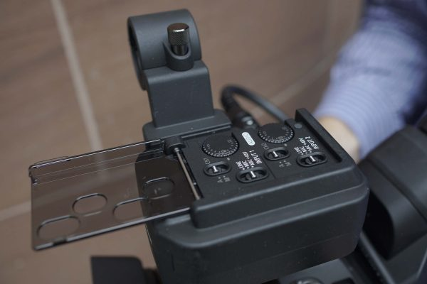 The XC15 audio controls