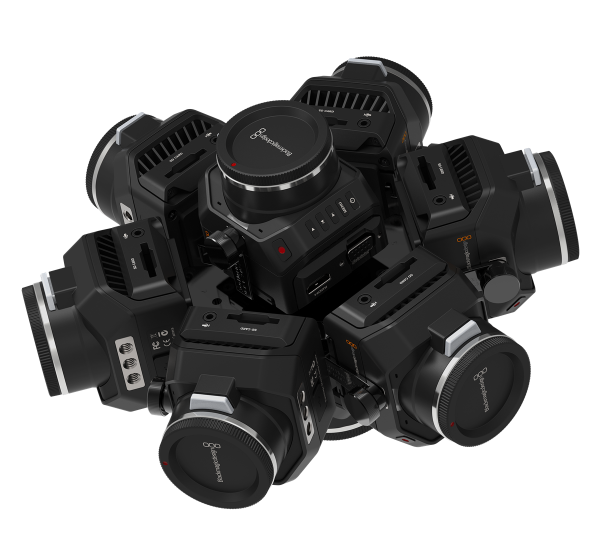 360RIZE's 360Helios 8 holds eight Blackmagic Design Micro Cinema Camera 2Ks or Blackmagic Design Micro Studio Camera 4Ks. The rig costs $4,415 and begins shipping in limited quantities in November, along with the rest of the 360Helios line.