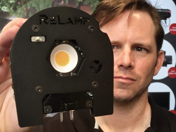 The ReLamp module has a large LED