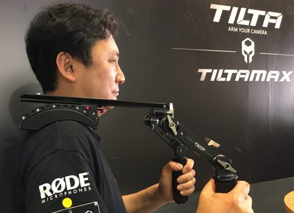 Tilta's approach to shoulder rigs is based on a sliding dovetail system