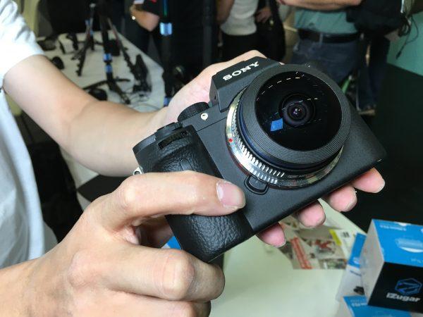 The iZugar lens on a Sony a7R II
