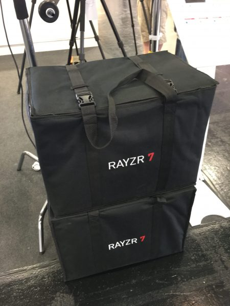 The Rayzr 7 transport case
