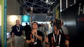 Newsshooter at IBC 2016 Konova handheld and airborne gimbal for 360 cameras 1