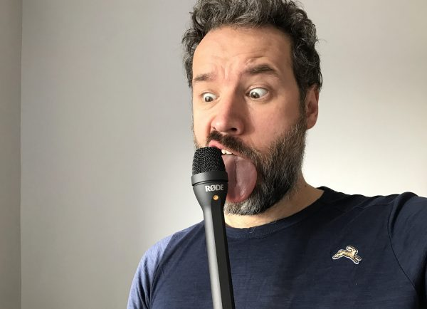 The Rode reporter seems like a good companion to the i-XLR - but what has it done to Christian's face?
