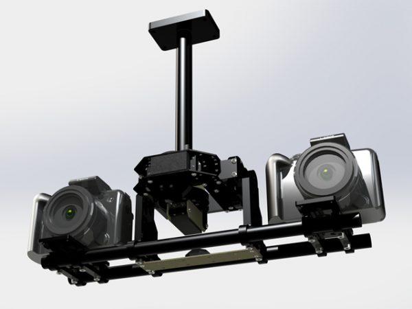 A 3D setup using a F-Servo gimbal