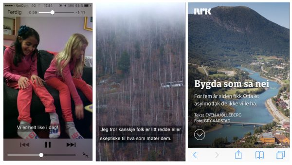 Given that so much online video is viewed with the sound turned off (up to 90% of Facebook video for example), NRK's first vertical video doc is heavily captioned.