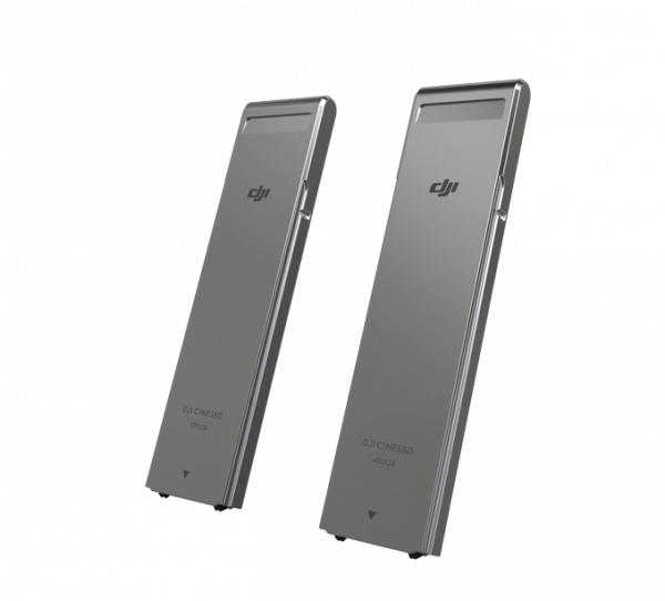 DJI's CINESSDs in 120GB and 480GB capacities. Wallets: brace for impact.